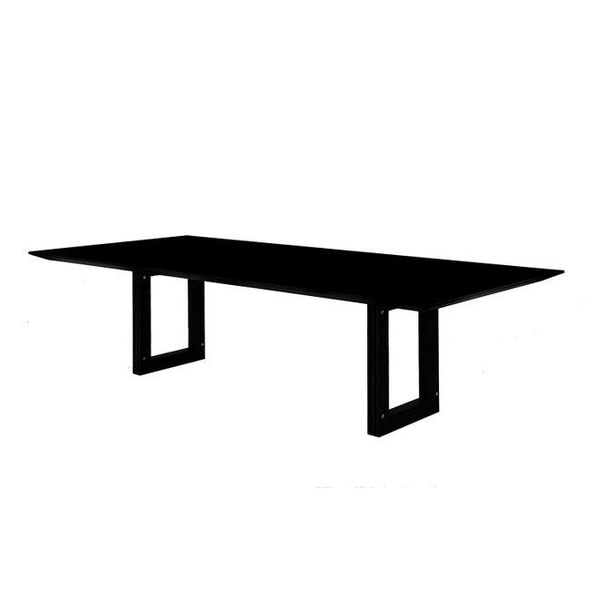 Mesa De Jantar Stripes - 2,00 X 1,20 X 0,75 - Laca Preto Brilho